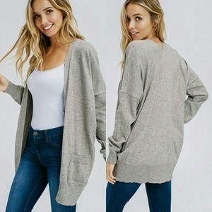 Sweaters - JULIE Softest cardigan - HEATHER GRAY
